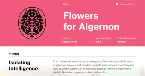 Flowers for Algernon Study Guide | Course Hero