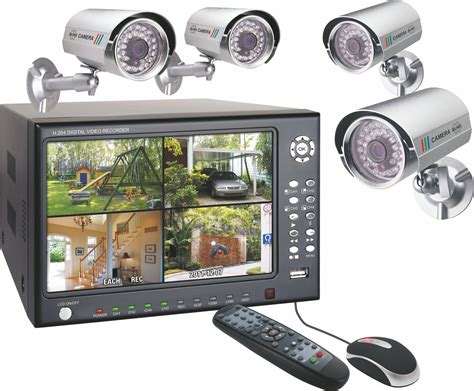 Elro Security System with 4 Colour Security Cameras, 7in