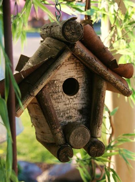Rustic Wood Birdhouse Design Ideas, Natural Choices for